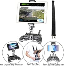 $37 Get RCGEEK Compatible with DJI Drone Controller Tablet Mount Extender Holder with Lanyard Compatible with 10 inch Tablet Crystal Sky Monitor DJI Mavic Pro Mavic 2 Pro/Zoom Spark Mavic Air Remote (Grey)