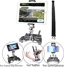 RCGEEK Compatible with DJI Drone Controller Tablet Mount Extender Holder with Lanyard Compatible with 10 inch Tablet Crystal Sky Monitor DJI Mavic Pro Mavic 2 Pro/Zoom Spark Mavic Air Remote (Grey)