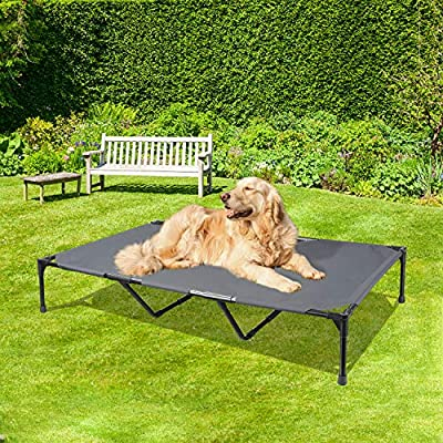 BABYLTRL Elevated Dog Bed Extra Large Dog Cot with Sturdy & Breathable Fabric, Raised Dog Bed Pet Cot for Extra Large Medium Small Dogs, Multiple Sizes, No-Slip Feet, Indoor & Outdoor Use