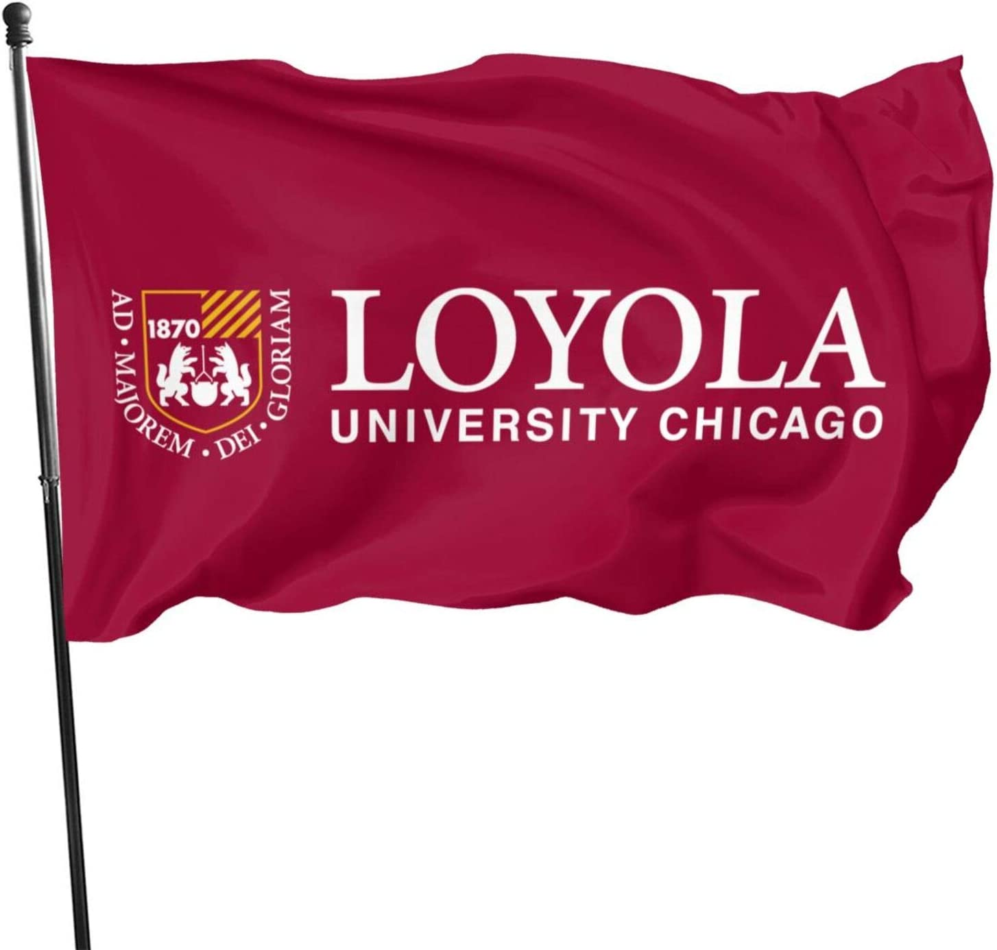 Ali Yee Loyola University-Chicago Logo 3x5 Feet Flag -Uv Fade Resistant Flag for Outdoor House Porch Welcome Holiday Decoration, Garden Flag,Chritmas/Happy New.