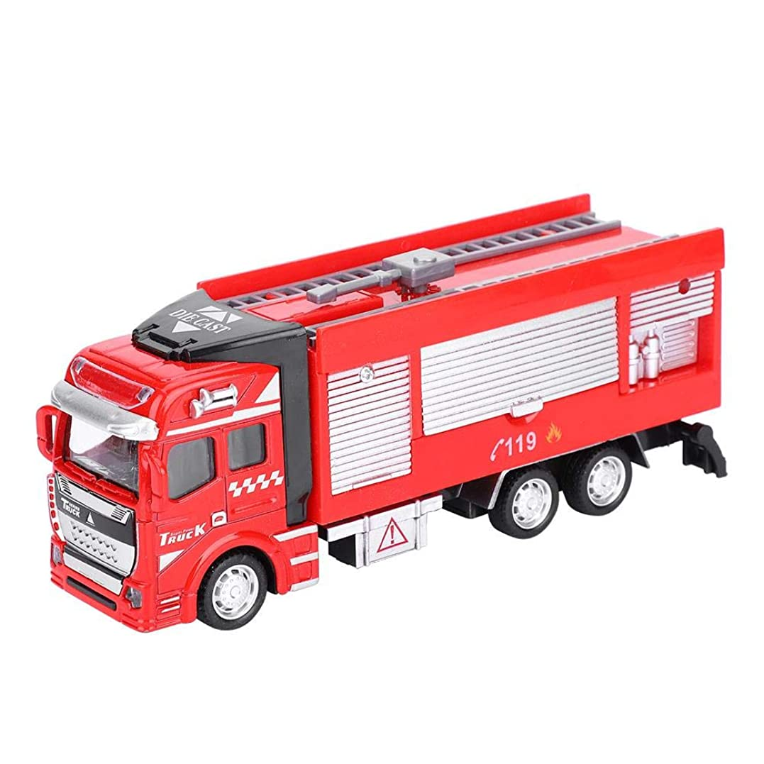 影響ライナー小競り合いYosooo 1/48スケール 子供のおもちゃ 消防車シリーズ 車 人工モデル おもちゃ 合金 プルバック 車 ハイシミュレーション 消防車 モデル 3個 Yosooixhcguqg9y-01