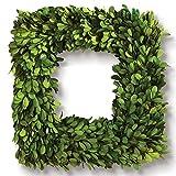 "Porch & Petal Boxwood Square Wreath, 16"""