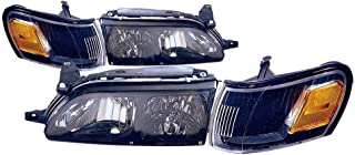 Headlight Headlamp For Toyota Corolla Driver Left And Passenger Right Side Pair Set 1993 1994 1995 1996 1997