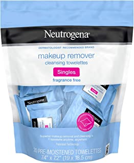 Neutrogena Fragrance Free Makeup Remover Cleansing Towelette Singles - 20 Ea, 20count
