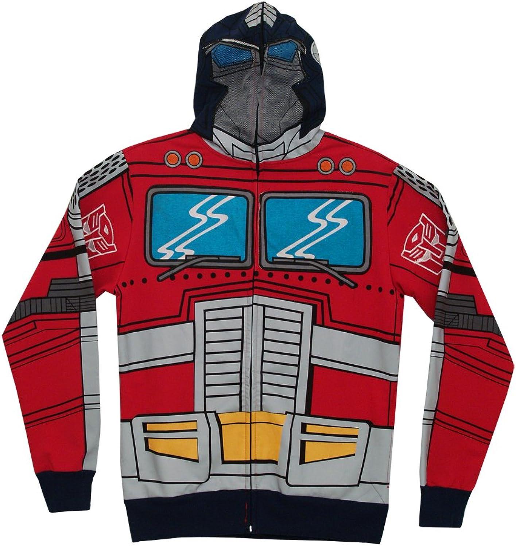 Transformers Optimus Prime Costume Zip Up Hoodie Sweatshirt   M