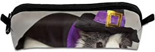 KutLong Guinea Pig Wearing A Witch Hat Student Pencil Pen Case Zipper Pouch Small Cosmetic Makeup Bag Coin Purse?for Kids Teens and Other School Supplies