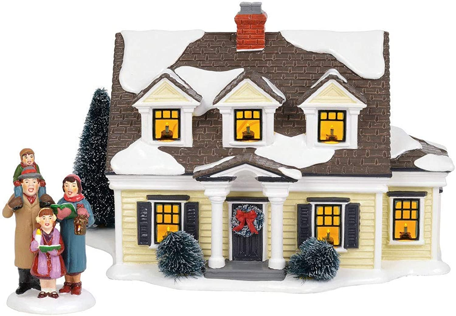 Department56 Original Snow Village Welcoming Christmas Lit Building and Accessory, 7.09 , Multicolor