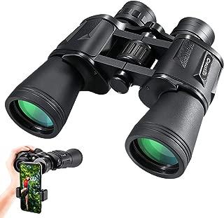 CrazyFire HD Compact Binoculars for Adults,10×50 Wide-View Binoculars with FMC Lens, Travel Binoculars for Bird Watching,Hunting,Sports Events