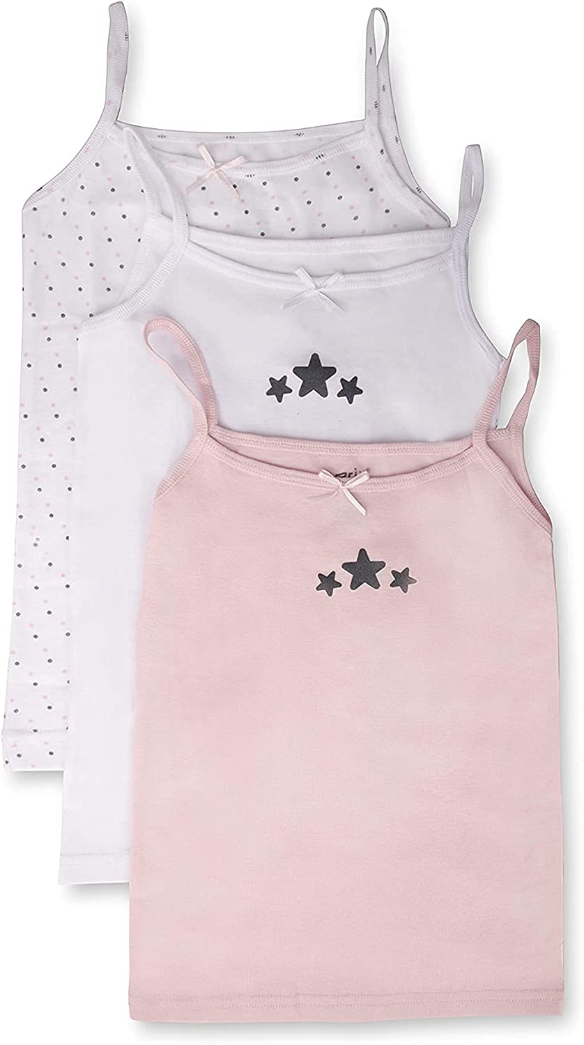 Brix Toddler and Girls' Cami – Undershirts – 3 pk Tagless Cotton Camisole.