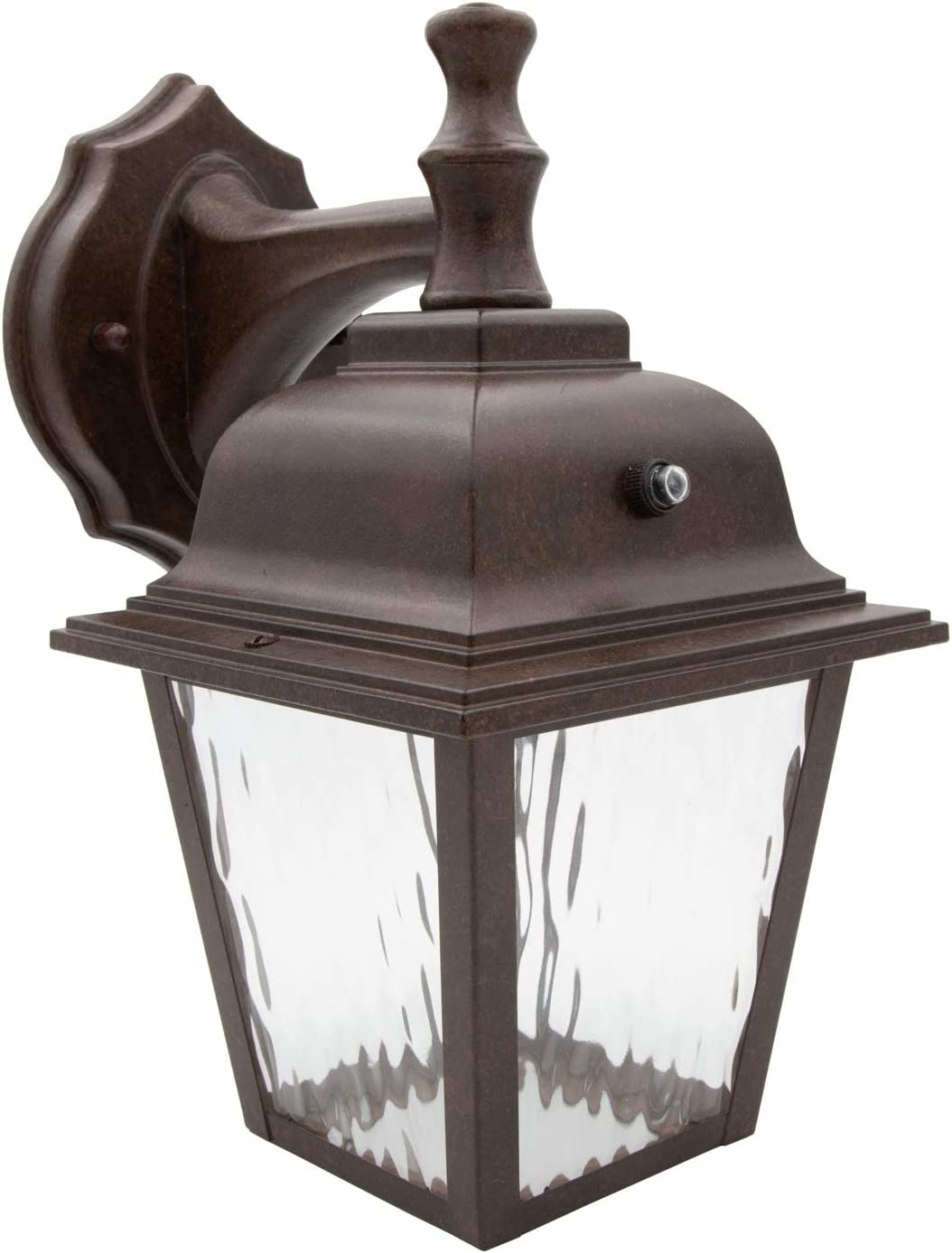 online shopping Maxxima LED Porch Lantern Outdoor Bronze Aged Light Wall Quantity limited Clear