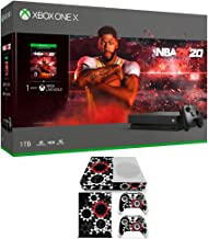 Microsoft 234-01020 Xbox One S Gears of War 5 with Wireless Controller Bundle with Deco Gear Vinyl Skin Sticker Cover Decal Xbox One S Console and Controllers