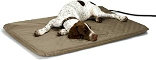 K&H Pet Products Lectro-Soft Heated Outdoor Pet Bed, Tan, Large, 60W