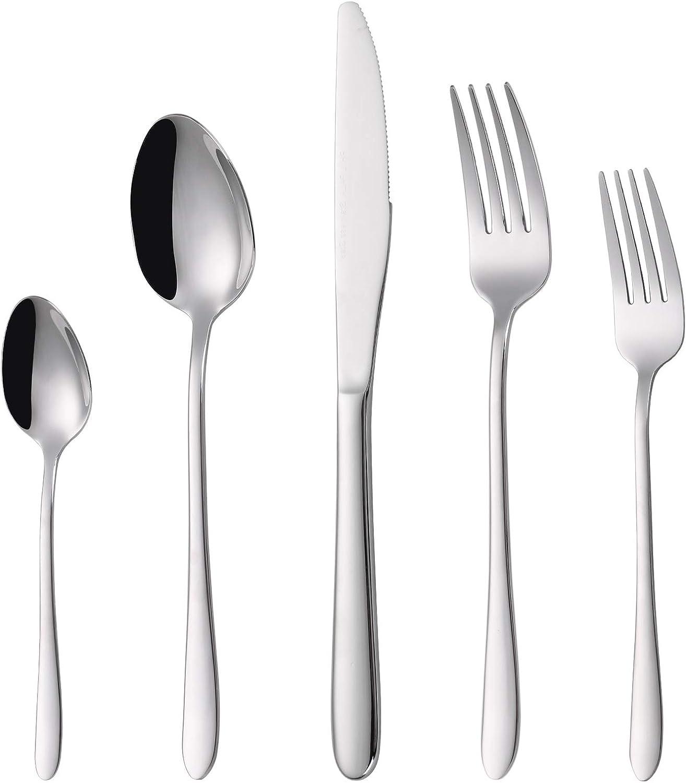 40-piece Silverware set mart PHILIPALA Flatwar Super-cheap Silver Stainless Steel