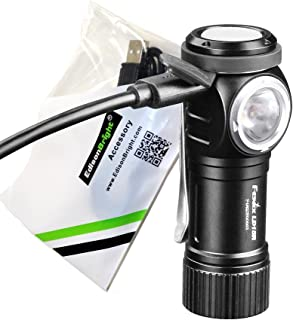 FENIX LD15R 500 Lumen USB rechargeable right angled task light/Flashlight with EdisonBright USB charging cable
