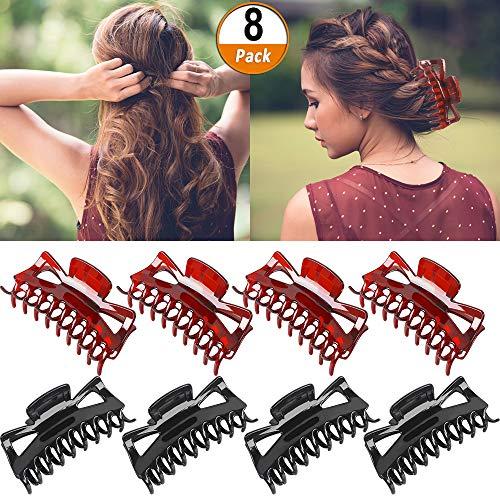 Haarklammer Damen Große Haarkrallen 8 Stück Haargreifer Clips Acryl Krabbe Haar ClipsKunststoff Haarspangen Haarklammer Clips für Mädchen Frauen Damen