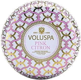 Voluspa Pink Citron 2 Wick Tin Candle, 11 Ounces