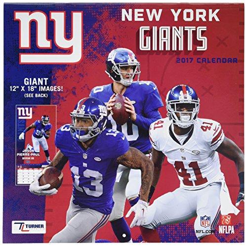 "Turner Licensing Sport 2017 New York Giants Team Wall Calendar, 12""X12"" (17998011919)"