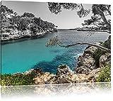 Pixxprint Mallorca Bay Cove / 100x70cm Leinwandbild