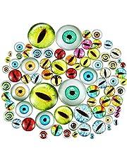 100 piezas de juguetes ojos de cristal ojos de los animales dragón ojos de vidrio cabujón muñeca de colores mezclados DIY Scrapbooking de los artes de la joyería toma de