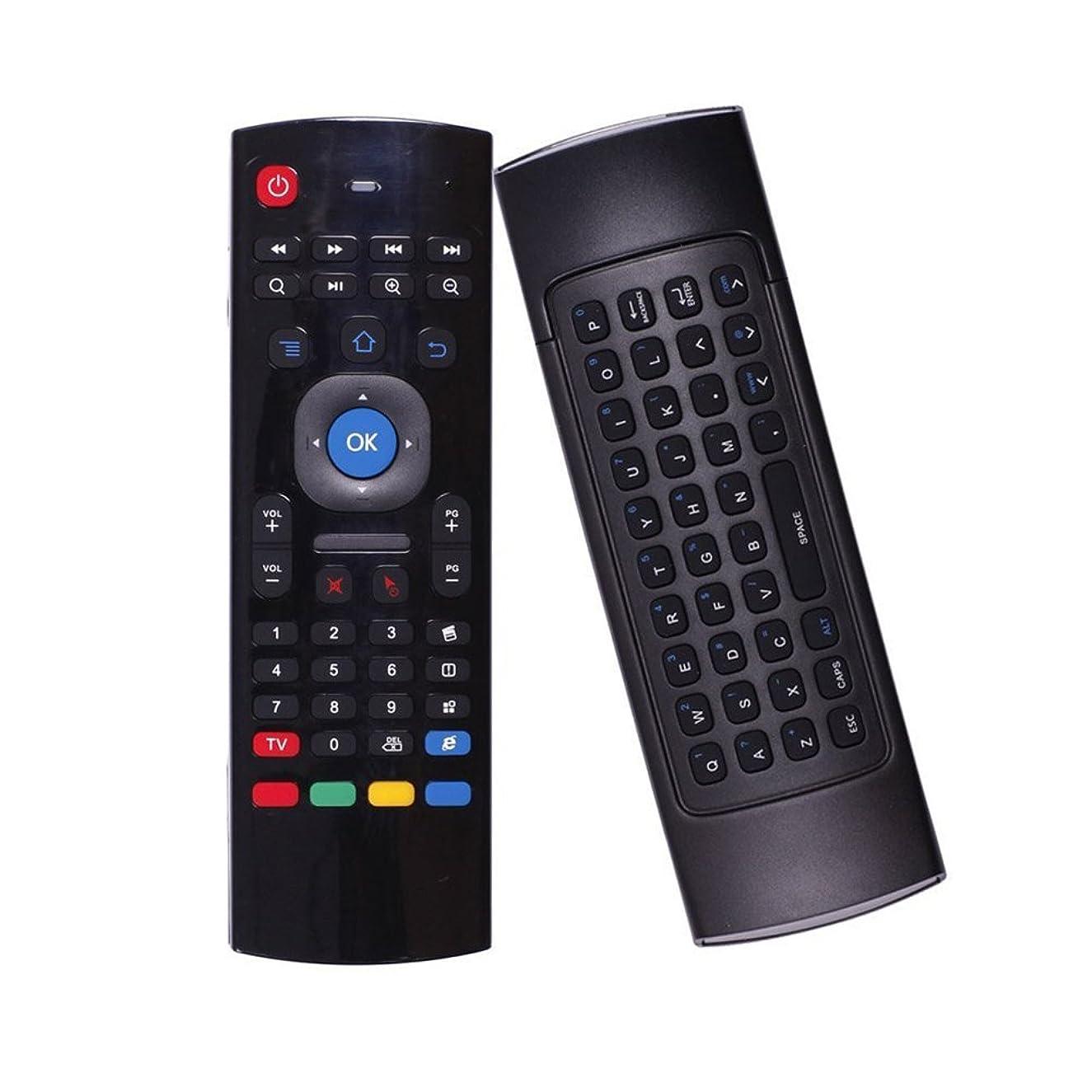 elegantstunning Air Mouse Smart Remote Control 2.4G RF Wireless Keyboard for TV Computer Black