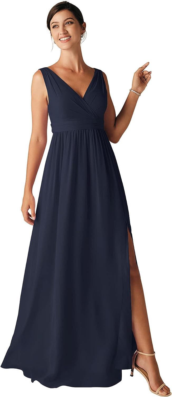 ALICEPUB Tank Top Chiffon Bridesmaid Dresses High Low Party Dress for Women