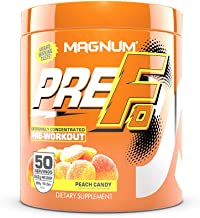 Magnum Nutraceuticals PRE FO Workout Powder (50 Servings) (Peach Candy)