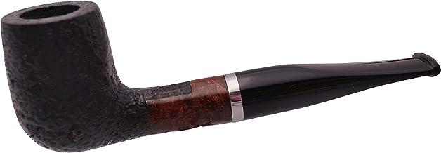 GERMANUS pijpset, Billiard 153 - Made in Italy - recht zand zwart in set met pijpzak, pijpenbestek, pijpenreiniger, filter