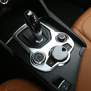 SODIAL Per Alfa Romeo Giulia 2017 ABS Centro in Fibra di Carbonio Centro Interno Consolle del Cambio Copertura del Pannello Trim Accessorio Automatico