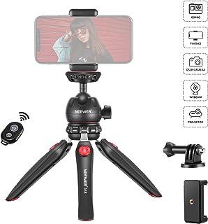 Neewer M8ポータブル卓上ミニ三脚マウント、360度回転可能なボールヘッド、アダプター、およびスマートフォングリップ付属 iPhone/Android Samsung Huawei/DSLRカメラ、ウェブカメラ/プロジェクター/GoProアクションカメラに対応