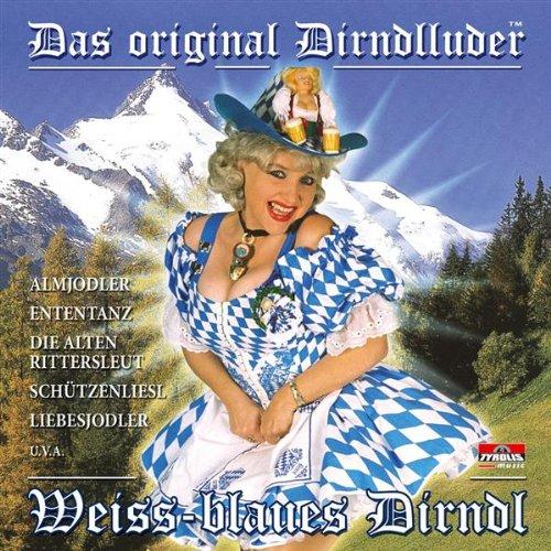 Weiss-blaues Dirndl
