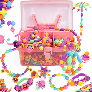 Axel Adventures Snap Pop Beads - toddlers Arts and Crafts. Kids Jewelry kit. Necklace, Headband, Rings, Bracelet- girls gift age 5-DIY Set- Birthday, Christmas Gifts for 4, 5, 6, 7, 8 year old 520PCS