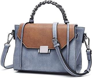 GLJJQMY Korean Version of The Retro Fashion Small Square Bag New Casual Shoulder Slung Handbag Handbag, 22x11x17cm Hand Bag (Color : Green)