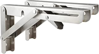 Triangular Stainless Steel Folding Bracket, Heavy-duty Hinged Wall-mounted Space-saving DIY Bracket, Can Be Used On Workbe...