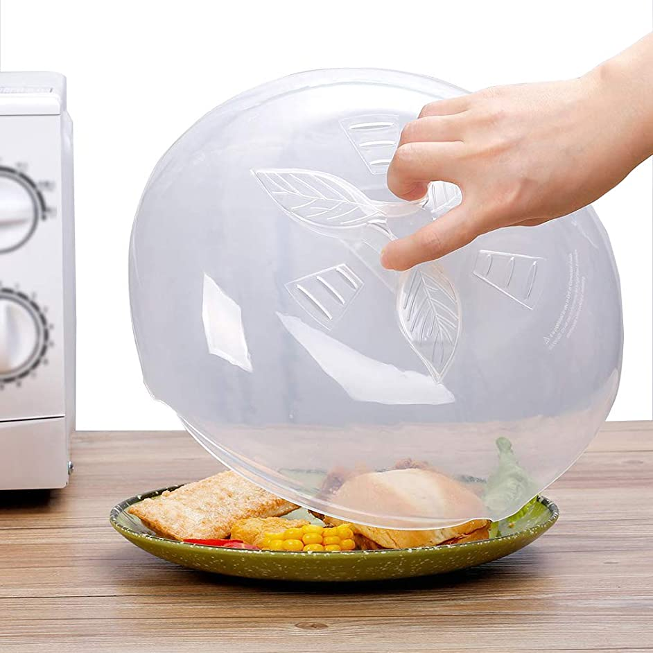 Anti-Sputtering Microwave Cover for Food Plate, BPA Free Microwave Splatter Guard with Steam Vents, 11.5 Inch