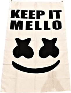 APFoo Marshmallow Keep It Mellow Flag Banner Size 3X5 Feet Man Cave Decor