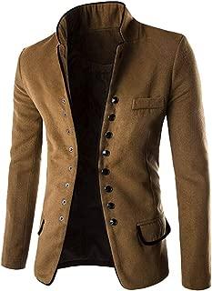 TOPUNDER Fashion Autumn Winter Button Coat Men Long Sleeve Cardigan Sweater Top Blouse