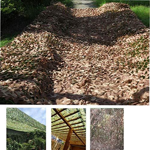 LFSTY - Red de camuflaje para protección solar, para el desierto, camuflaje, protección visual, camuflaje, para decoración de paisaje forestal, caza, exterior, camping, tamaño ajustable (2 x 3 m)