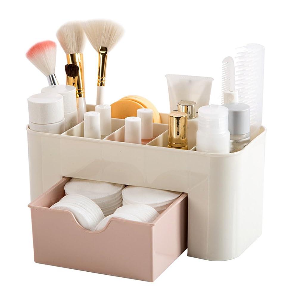 KOROWA メイクボックス 化粧収納ケース コスメ収納 大容量 化粧品収納 多機能 シンプルで実用 ピンク(22 * 10 * 10.3 cm) 個人用 女性用品