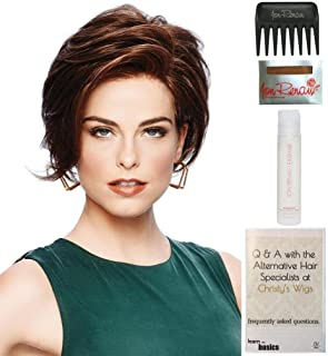 Bundle - 5 items: Sheer Elegance by Gabor, 15 Page Christy's Wigs Q & A Booklet, 2oz Travel Size Wig Shampoo, Wig Cap & Wide Tooth Comb - Color: SS1526