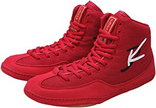 Men's Boxing Shoes, Breathable Fighting Trainers Lightweight Buffer Anti-Skid Teens Indoor Wrestling Fitness Sneakers