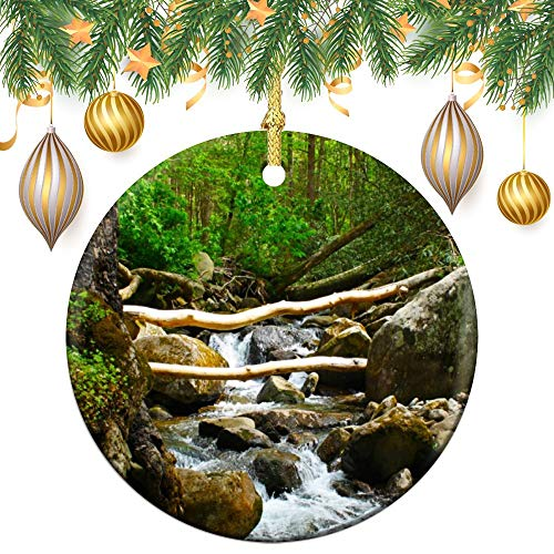 Christmas Ornaments, Gatlinburg Tennessee Ornament Tree Hanging Decor Gift For Families Friends,3 Inch