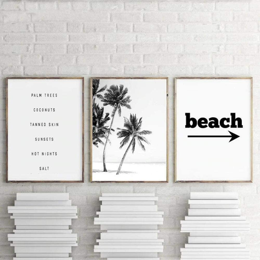 Modern Black OFFicial store and White Palm Canva Award Trees Beach Pictures Landscape