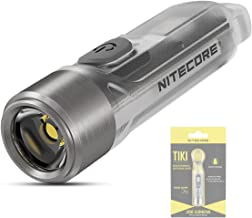 NITECORE TIKI - Mini Flashlight - USB Rechargeable Keychain Torch - Extremely Bright CREE LED 300 Lumen & UV Pocket Light ...