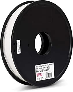 Inland EFLEX 1.75mm Natural TPU 3D Printer Filament - 0.5kg Spool (1.1 lbs)