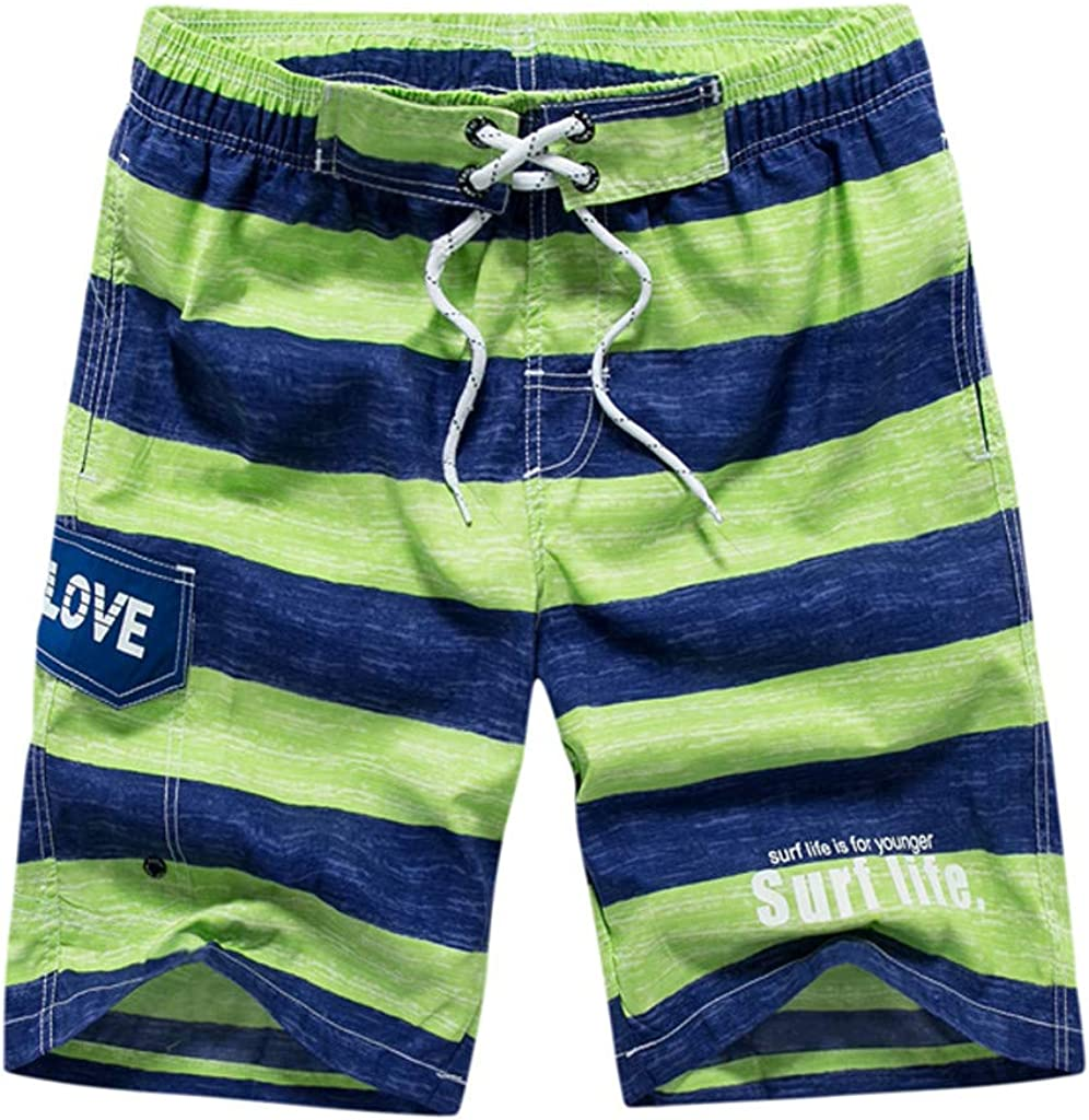 MODOQO Men's Loose Fit Swim Trunks Summer Quick Dry Straight Shorts Pants with Pocket