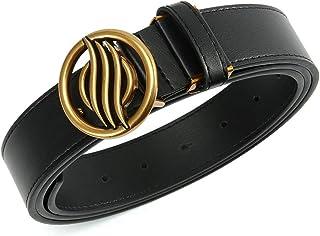 أحزمة DOOPAI للنساء، حزام خصر جلد لفستان الجينز، أحزمة سوداء للنساء، قطع لحجم مناسب، مع علبة هدية
