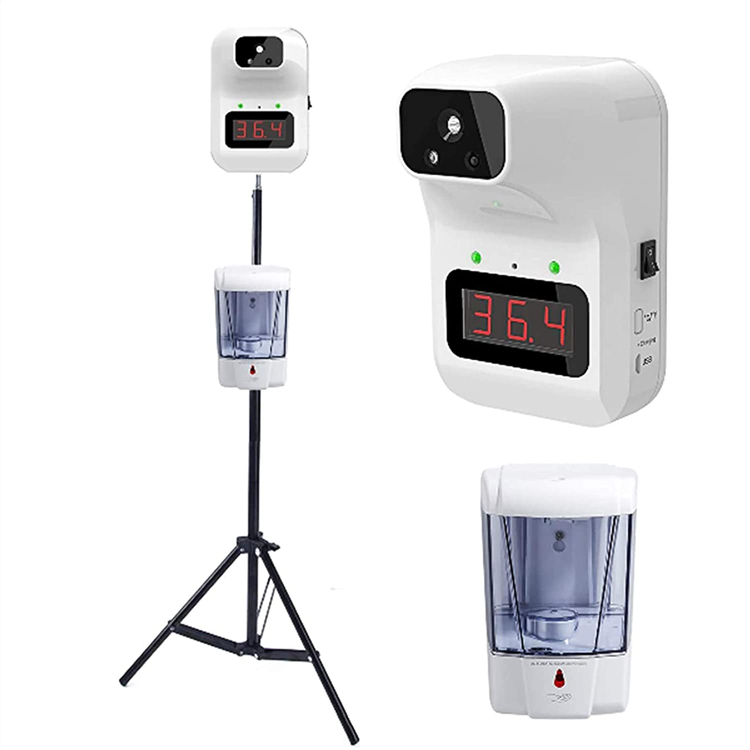 HVW 出色 Temperature Scanner 保証 with Stand Wall Infrared Non-Contact Th