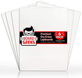 Dry Erase Lapboards | 9 x 12 inch Large Whiteboard | White Board Set | Great for Teachers, Students, Children, Classroom |...