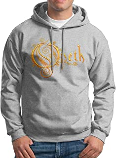 VicRomanko Mens Opeth Long Sleeve Young Fashion Drawstring Music Sweatshirt Black