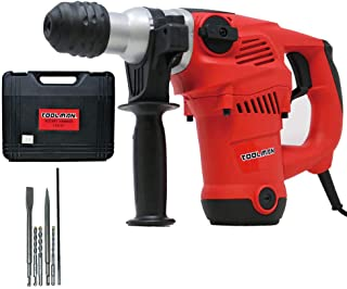 Lion Tools LT3127_FBA Toolman Electric Power Rotary Hammer Drill Driver 14 Amp 730RPM Rotary Hammer For Heavy Duty Corded works with DeWalt Makita Ryobi Accessories